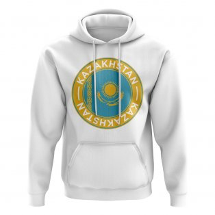 Kazakhstan Football Badge Hoodie (White)