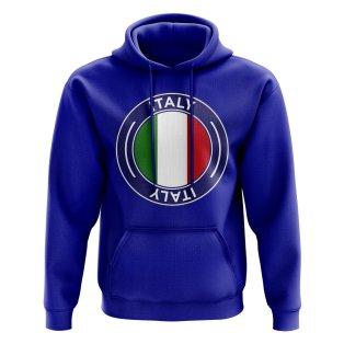 Italy Football Badge Hoodie (Royal)