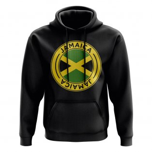 Jamaica Football Badge Hoodie (Black)