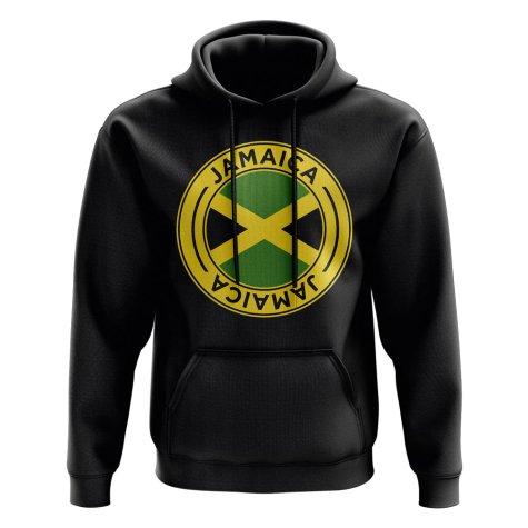 Jamaica Football Badge Hoodie (Black)