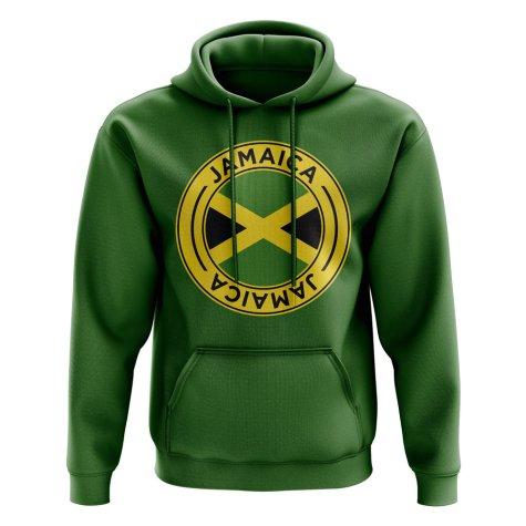 Jamaica Football Badge Hoodie (Green)