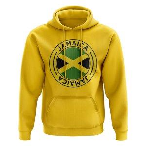 Jamaica Football Badge Hoodie (Yellow)