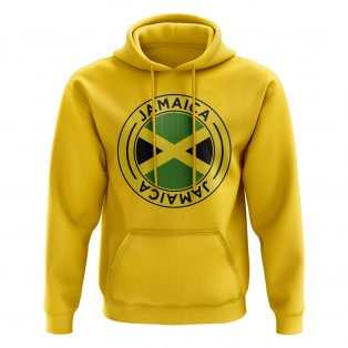 Jamaica Football Badge Hoodie (Yellow)