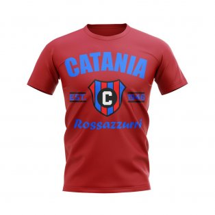 Catania Established Football T-Shirt (Red)
