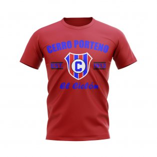 Cerro Porteno Established Football T-Shirt (Red)