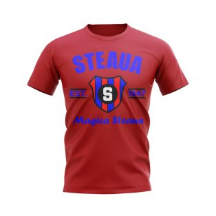 Steaua Bucharest Established Football T-Shirt (Red)