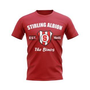 Stirling Albion Established Football T-Shirt (Red)