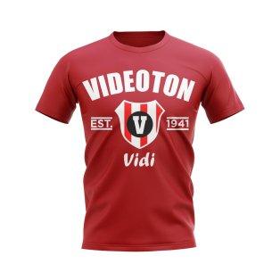 Videoton Established Football T-Shirt (Red)