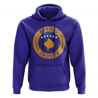 Kosovo Football Badge Hoodie (Royal)