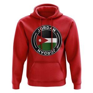 Jordan Football Badge Hoodie (Red)