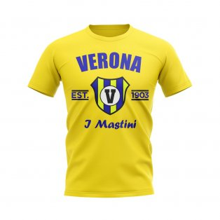 Hellas Verona Established Football T-Shirt (Yellow)