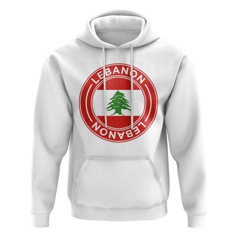 Lebanon Football Badge Hoodie (White)