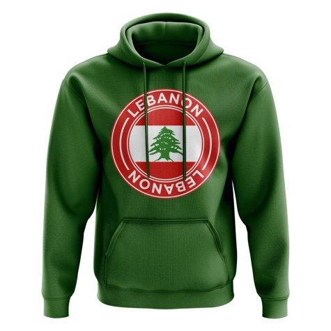 Lebanon Football Badge Hoodie (Green)
