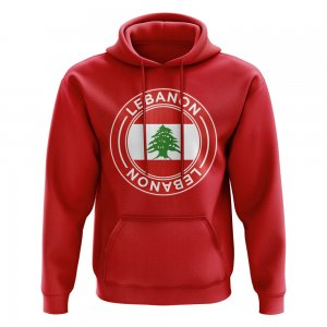 Lebanon Football Badge Hoodie (Red)