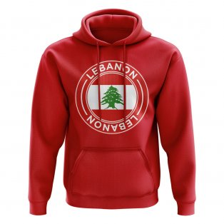 Lebanon Football Badge Hoodie (Red)