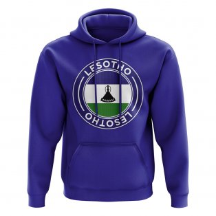 Lesotho Football Badge Hoodie (Royal)