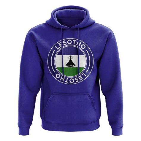 Lesotho Football Badge Hoodie (Royal)