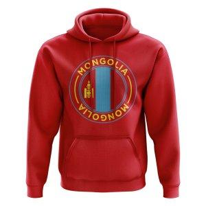 Mongolia Football Badge Hoodie (Red)