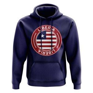 Liberia Football Badge Hoodie (Navy)