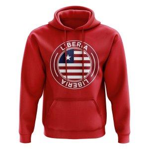 Liberia Football Badge Hoodie (Red)