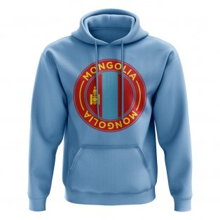 Mongolia Football Badge Hoodie (Sky)
