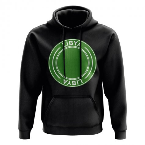 Libya Football Badge Hoodie (Black)