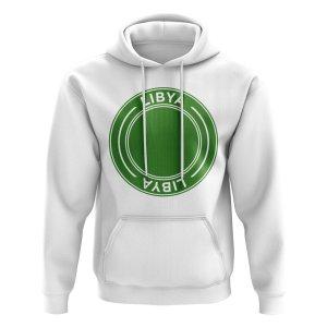Libya Football Badge Hoodie (White)