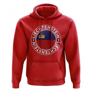 Liechtenstein Football Badge Hoodie (Red)