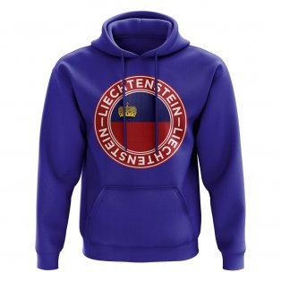 Liechtenstein Football Badge Hoodie (Royal)