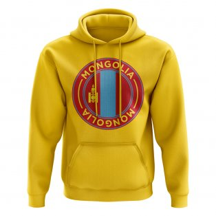 Mongolia Football Badge Hoodie (Yellow)