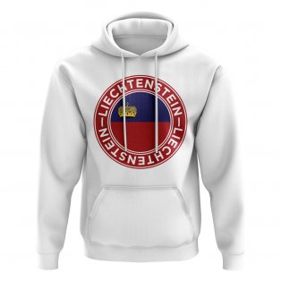Liechtenstein Football Badge Hoodie (White)