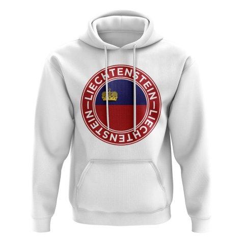 Liechtenstein Football Badge Hoodie (White)