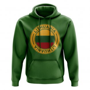 Lithuania Football Badge Hoodie (Green)