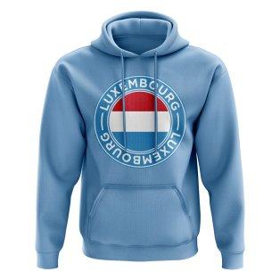 Luxembourg Football Badge Hoodie (Sky)