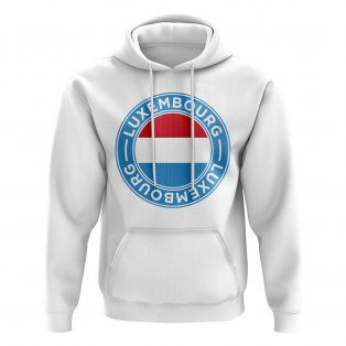 Luxembourg Football Badge Hoodie (White)