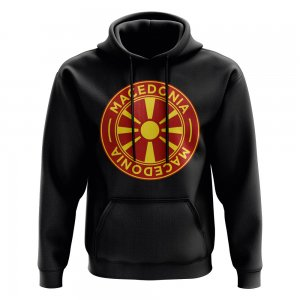 Macedonia Football Badge Hoodie (Black)