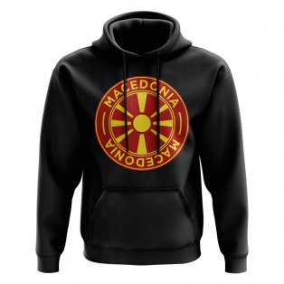 Macedonia Football Badge Hoodie (Black)