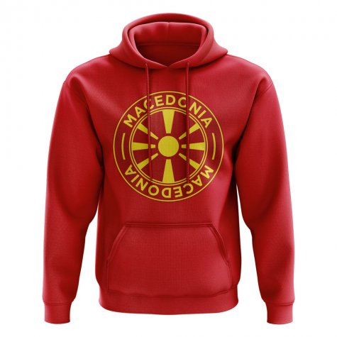 Macedonia Football Badge Hoodie (Red)