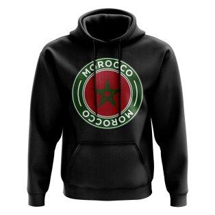 Morocco Football Badge Hoodie (Black)