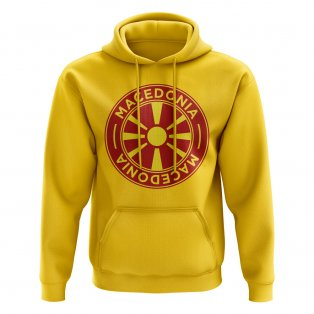 Macedonia Football Badge Hoodie (Yellow)