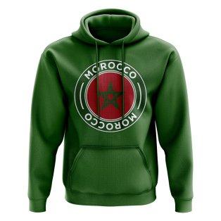 Morocco Football Badge Hoodie (Green)