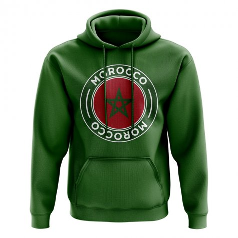 Morocco Football Badge Hoodie (Green)