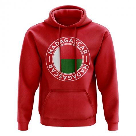 Madagascar Football Badge Hoodie (Red)