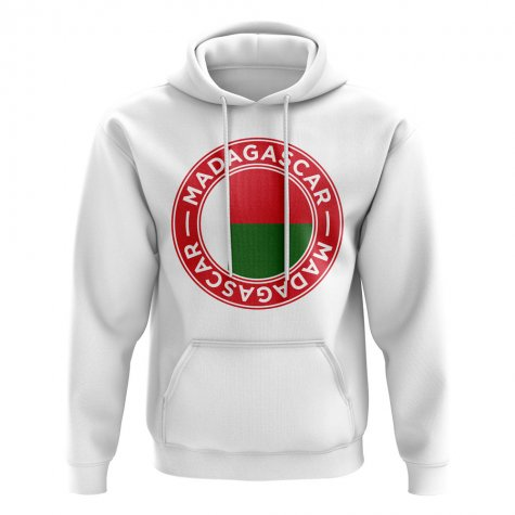 Madagascar Football Badge Hoodie (White)
