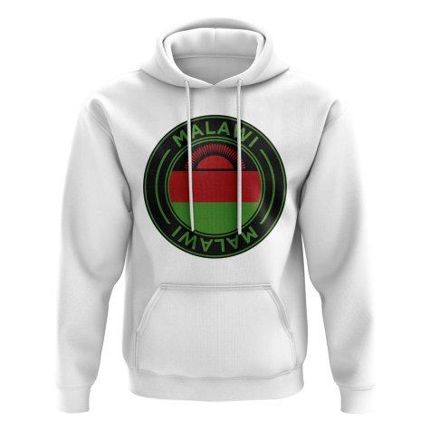 Malawi Football Badge Hoodie (White)