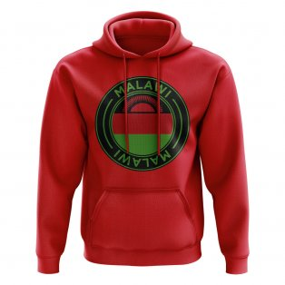 Malawi Football Badge Hoodie (Red)