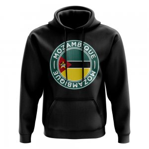 Mozambique Football Badge Hoodie (Black)