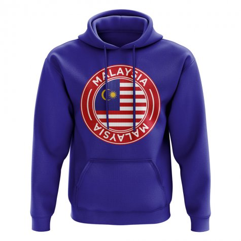 Malaysia Football Badge Hoodie (Royal)