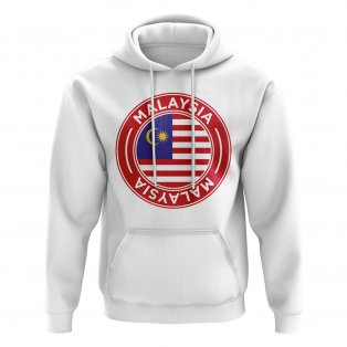 Malaysia Football Badge Hoodie (White)