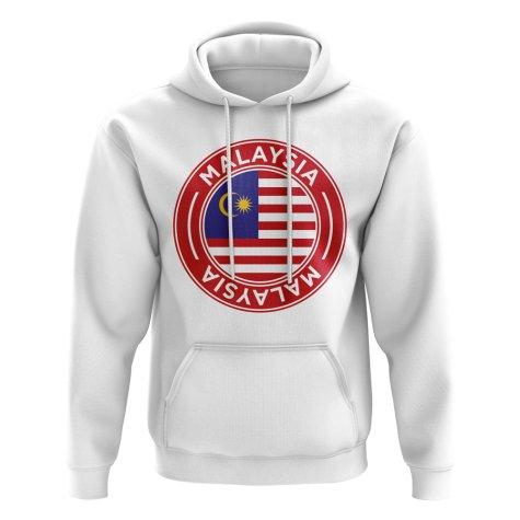 Malaysia Football Badge Hoodie (White)